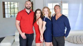 Spencer Bradley and Nikole Nash enjoy dad's huge cocks